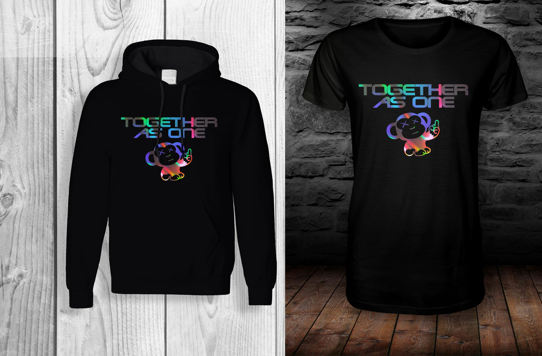 (BUNDLE) LIMITED EDITION TAO - Together as one official t shirt & Hoodie Bundle! Black & Reflective
