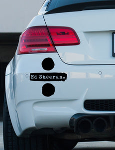 Ed Sheeran Divide bumper sticker