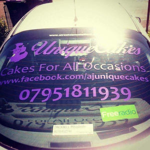 Rear window stickers for your business!