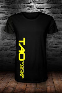 TAO - Together as one SIDEWAYS t shirt Black & yellow