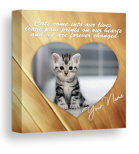 "20x20"" cats come into our lives... glitter canvas"