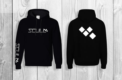SCULL official pullover hoodie Black & White