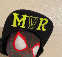 Load image into Gallery viewer, MVR Black & neon yellow (with your name) official SnapBack (FREE STICKERS)