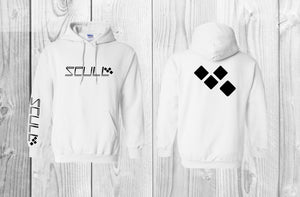 SCULL official pullover hoodie White & Black