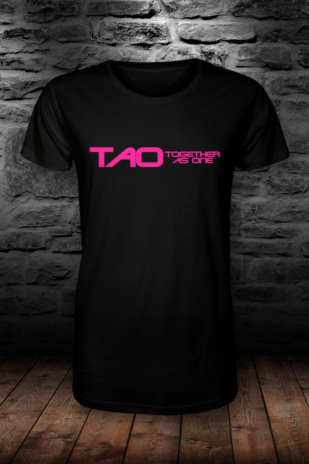 TAO - Together as one official t shirt Black & pink