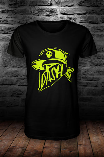 DASH official t shirt Black & Neon Yellow