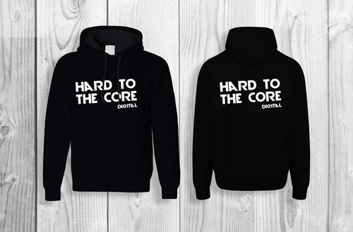 Hard to the core official pullover hoodie Black & White