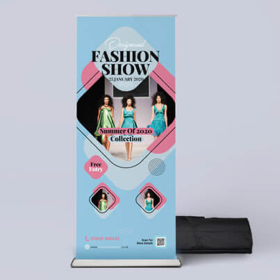 Singled sided premium Roller banner - FREE DESIGN & LUXARY CARRY CASE