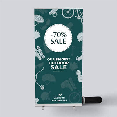 Singled sided 1.2metre extra wide Roller banner - FREE DESIGN & CARRY CASE