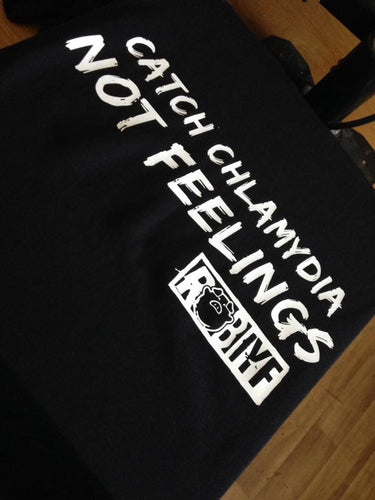 ROB IYF 'catch chlamydia' t shirt black & white