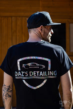 Load image into Gallery viewer, Daz's detailing t shirt Black & reflective