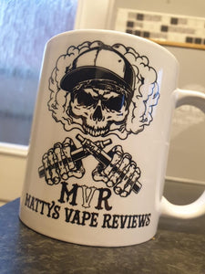 Matty's vape reviews official logo mug