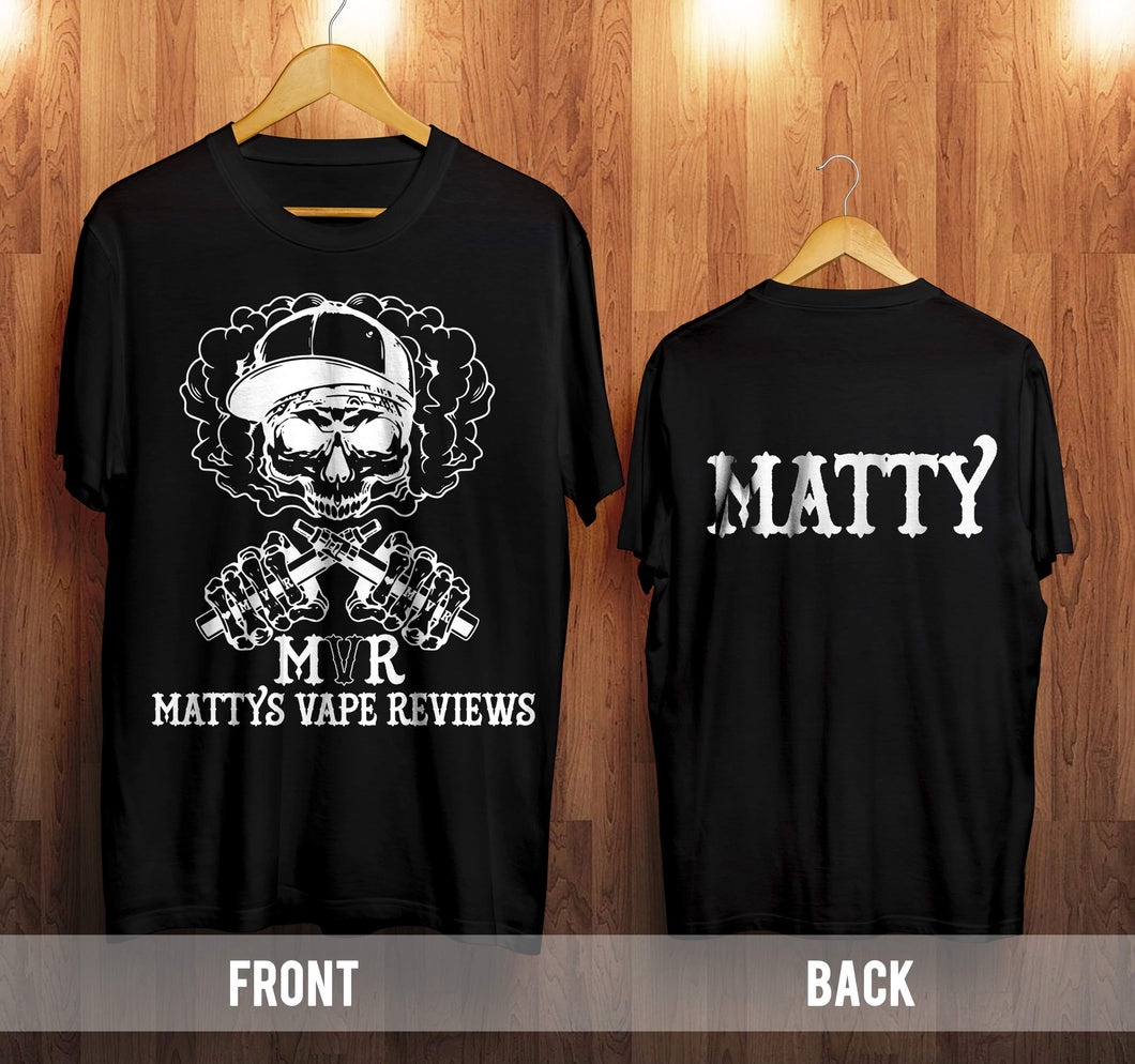 Matty's vape reviews official t shirt
