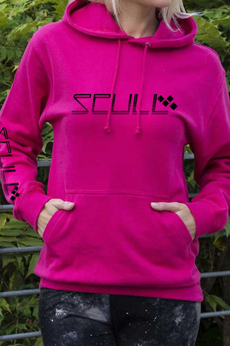 SCULL official pullover hoodie Pink & black