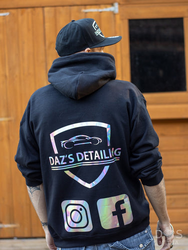 Daz's detailing Official pullover hoodie Black & reflective