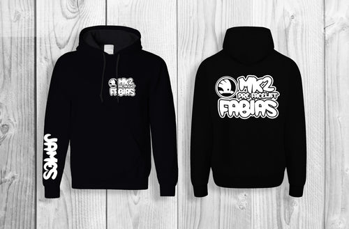 Mk2 Fabias pullover hoodie Black & White (personalised with your name!)