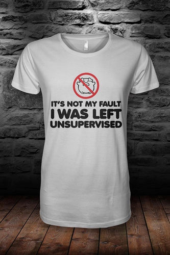 ROB IYF 'left unsupervised..' t shirt