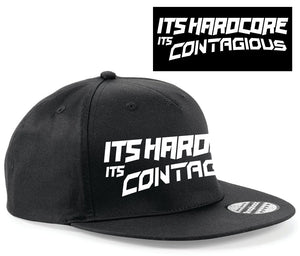Its Hardcore Its Contagious SnapBack black & white
