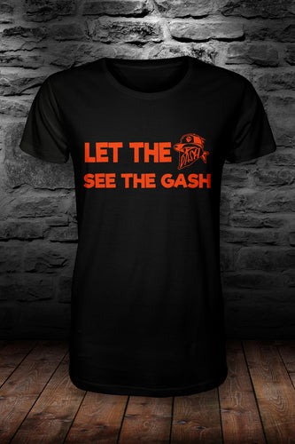 Let the DASH see the .... T shirt Black & Orange