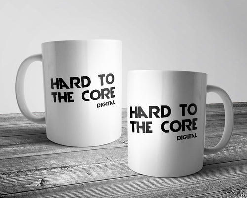 Hard to the core official logo mug white & black