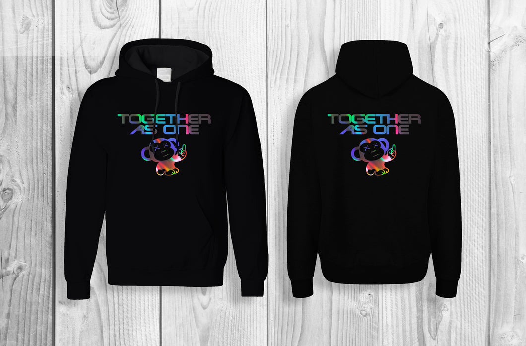 LIMITED EDITION - TAO - Together As One official pullover hoodie Black & reflective