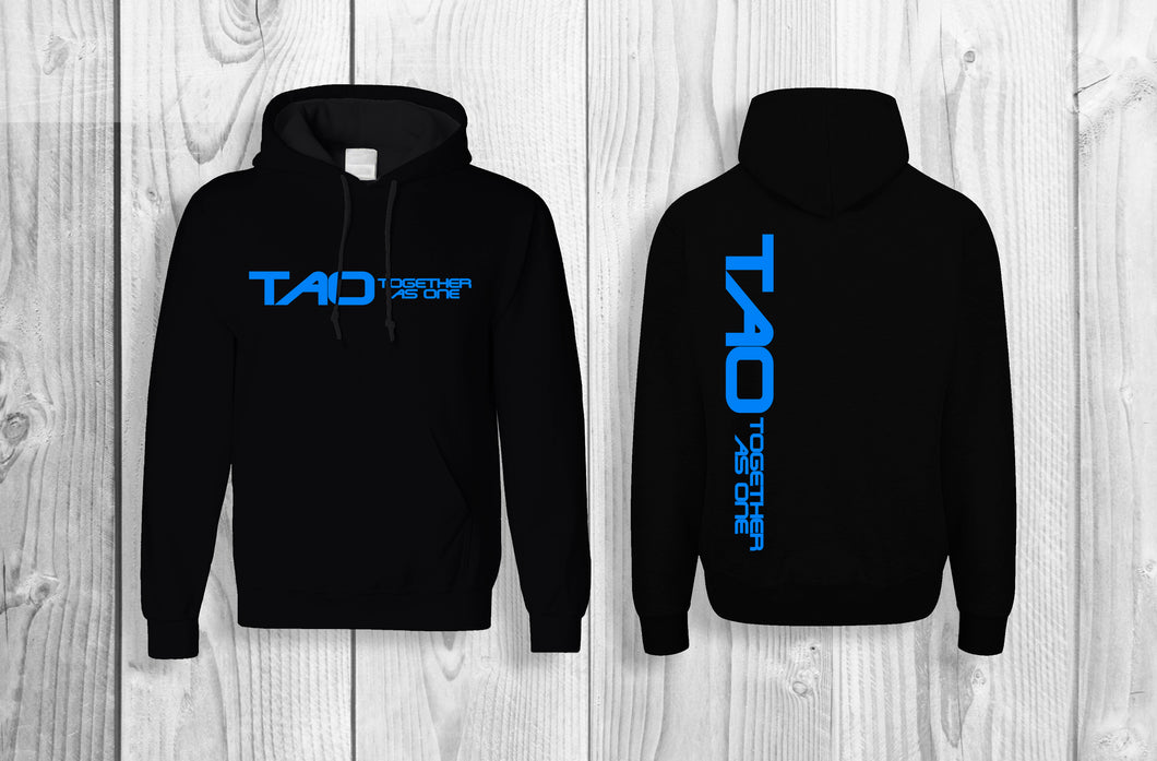 TAO - Together As One official pullover hoodie Black & Sky Blue