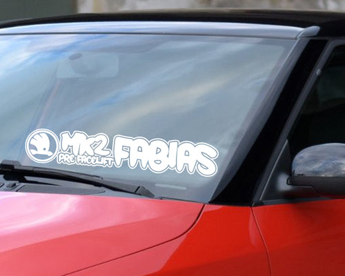 MK2 pre-facelift Fabia windscreen sticker 23