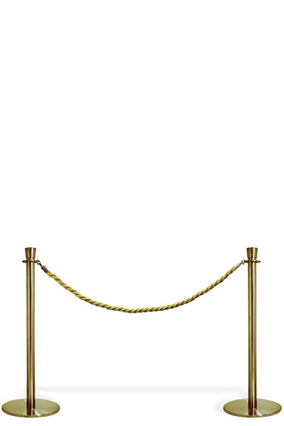 Crowd Controle Rope - Gold Personenleitsystem - Seilsystem