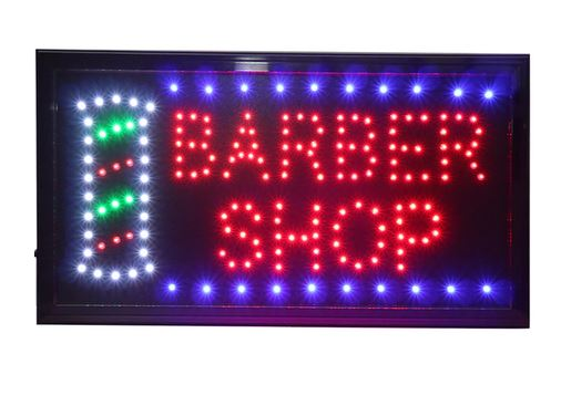 "LED-Schild ""Barber Shop"""