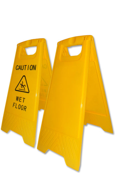 "Warnschild ""CAUTION WET FLOOR"" - GELB"