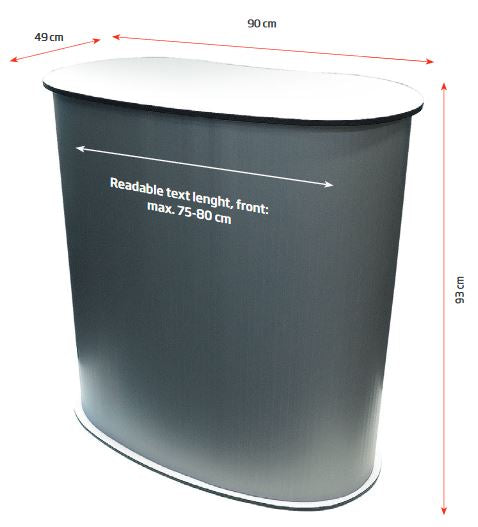"Promotion-Theke ""Panelcounter Curved"" - Oval"