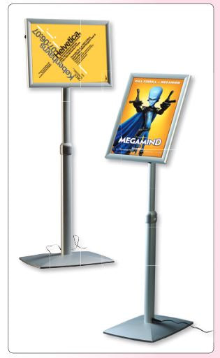LED Menu Infostand - Vertikal/Horizontal