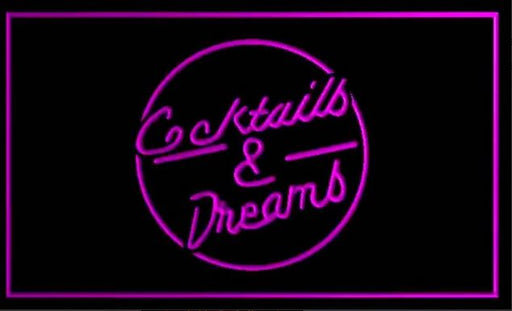 "LED Schild ""Cocktails & Dreams"""