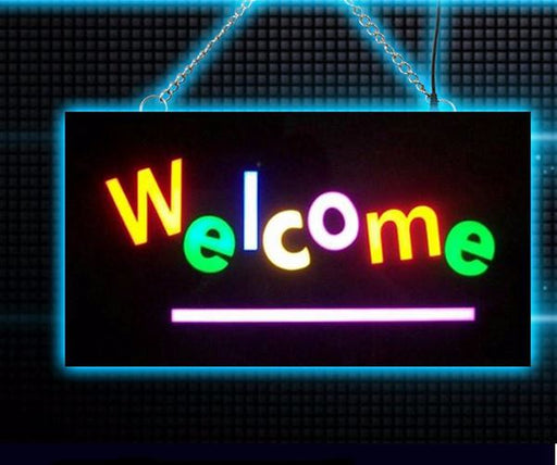 "LED- Schild ""Welcome""  - Wasserdicht"