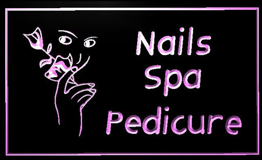 "LED Schild ""Nails - Spa - Pedicure"""