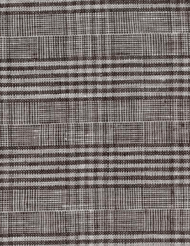 Grey Black Glen Plaid Linen