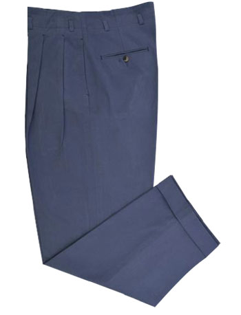 Washed Steel Blue Twill Chino