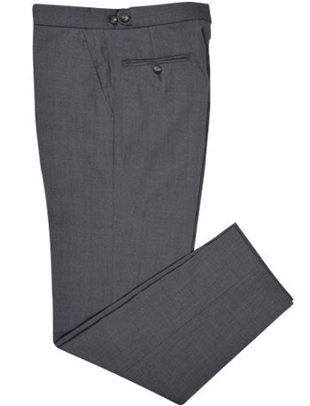 Washable Wool Pants: Plain Mid Grey