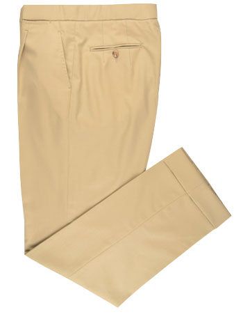 Washable Wool Pants: Khaki-Tan