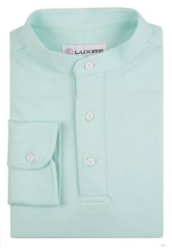 Mint Blue Polo T-Shirt