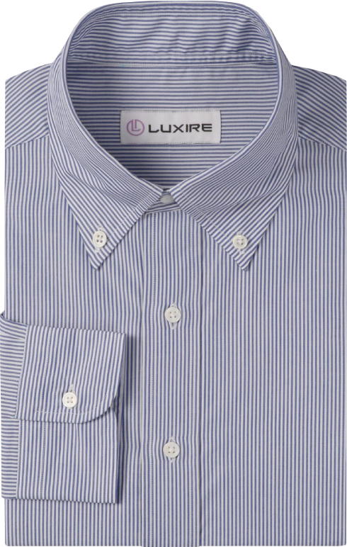 Business-Shirt White  With Blue Dress Stripes