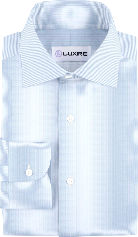 Blue on White Pin Stripes Dress Shirt