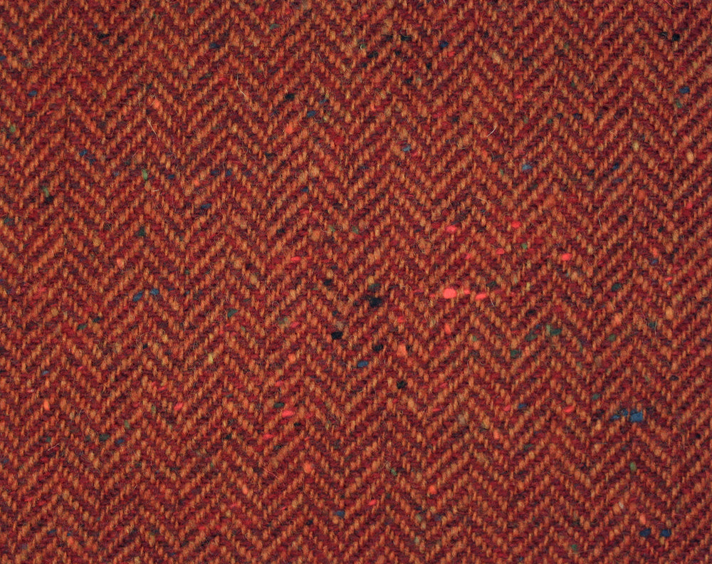Molloy Herringbone Donegal Tweed Pants - Brick Red