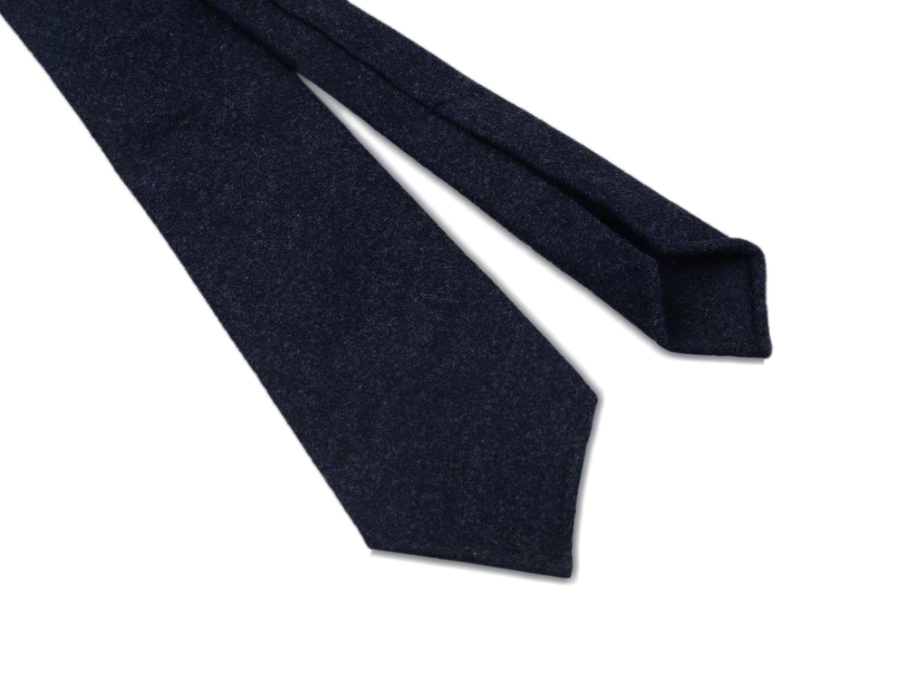 Dark Blue Flannel Tie