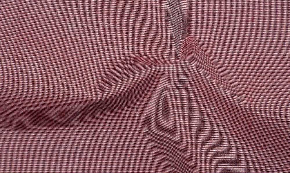 44a5ee57 Cotton Poly: Dark Red End On End – Luxire Custom Clothing