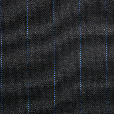 Dugdale Fine Worsted - Grey with Blue Pin Stripe