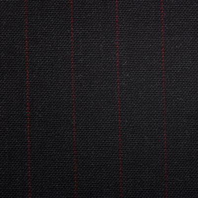 Dugdale Fine Worsted - Charcoal with Red Pin Stripe
