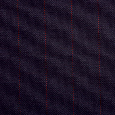Dugdale Fine Worsted - Navy with Red Pin Stripe