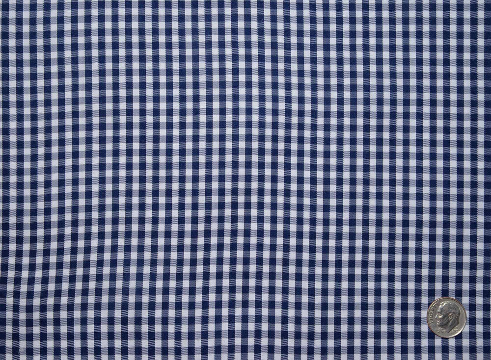 Navy and White Macro Gingham Checks