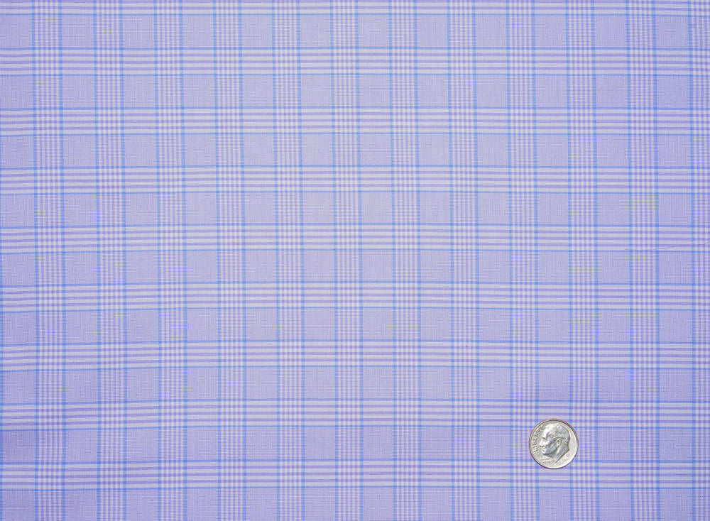 Periwinkle Windowpane Checks Shirt